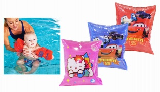 Inflatable Begin To Swim Arm Bands - Pink Hello Kitty