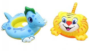 "Inflatable Animal Swim Ring 26 x 22"" - Cat"