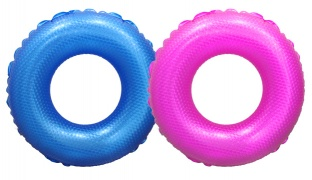 Inflatable 3D Swim Ring - Blue