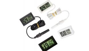 Mini LCD Digital Thermometer/Hygrometer Humidity - Black