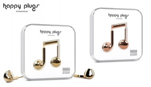Happy Plugs In-Ear Earbud Plus Glossy Deluxe Edition - Gold