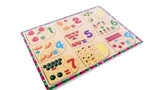 1 T0 9 Assemble Add Subtract & Count Puzzle Game 27 Pcs