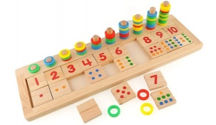 1 To 10 Wooden Toys Teaching Logarithm Version