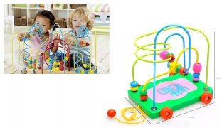 Trailer Circles Bead Labyrinth Wooden Toy