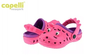Capelli New York Later Pink & Purple Gator Clog For Kids - Size: 20-22