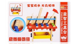 Wooden Tool Multifunctional Project Workbench Toy 27 x 28 cm