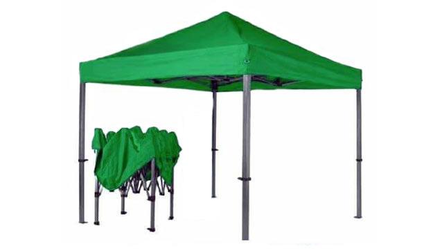 Gazebo Canopy Easy Folding Picnic Umbrella Tent 3 X 3 M Red Makhsoom