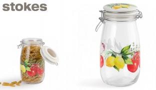 Stokes Glass Cucina Hermetic Storage Jar 1.5 L