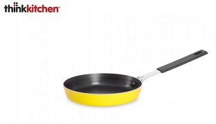 Thinkkitchen Yellow Aluminium Non Stick Coating Mini Egg Frypan 14 cm