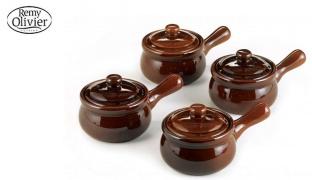 Remy Olivier Set Of Brown Ceramic Onion Soup Bowl 4 Pcs
