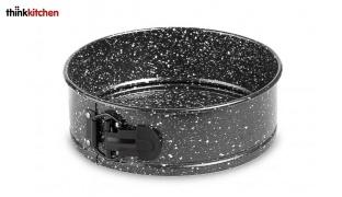 "Thinkkitchen Black & White Carbon Steel Leakproof Non-stick Spring Form Pan 8"""