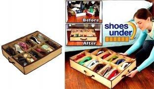 """Shoes Under"" Space Saver Shoe Organizer"