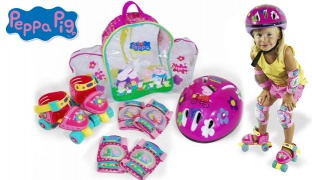 Peppa Pig Mini Roller Backpack With Protections Size: 24-28