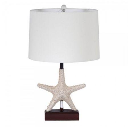 Set Of 2 Estella Cream Starfish Table Lamp Base