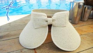 Corine.N Sun Visor Wide Brim Summer Beach Hat Roll Up For Women