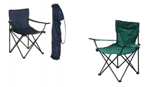 Portable Folding Camping Small Armchair With Carry Bag - Navy Blue