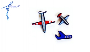Corine.N Set Of Classy Aviation Planes Pins 3 Pcs