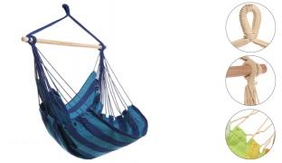 Striped Hammock Hanging Chair - Blue/Green