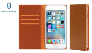 Patchworks C3 Slim Wallet Vibrant Premium Phone Case With Card Pockets For iPhone 6/6s - Brown