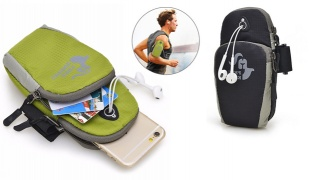 Free Knight Black Sports Running Arm Phone Bag Pouch With Earphone Hole 5.5""