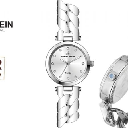 Daniel Klein DK10420 Trendy Silver Steel-Toned Watch For Women