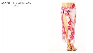 Manuel Canovas Colorful Amour Rose Floral Pareo For Women