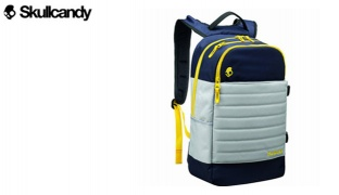 Skullcandy Grey & Yellow Frequency Audio Backpack