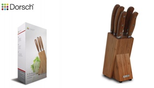 Dorsch Stainless Steel 18/10 Knife Set Bamboo 5 Peices