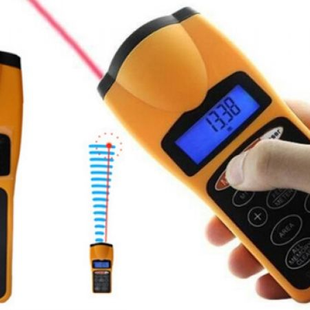 Ultrasonic Distance Measurer With Laser Point
