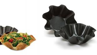 Set Of Non Stick Fluted Tortilla Bowl Bakers 2 Pcs