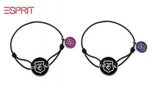 Esprit Stainless Steel E-Motion Fashion Bracelet For Women - Black/Purple
