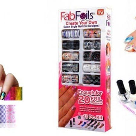 Fabfoils Salon Style Nail Foil Kit Design Makhsoom