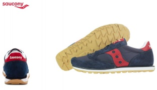 Saucony Jazz Low Pro Original Navy Blue & Red Running Shoes For Men - Size: 40