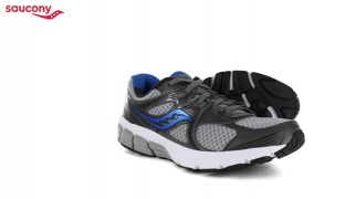 Saucony Mystic Grey Royal Running Shoes For Men - Size: 40