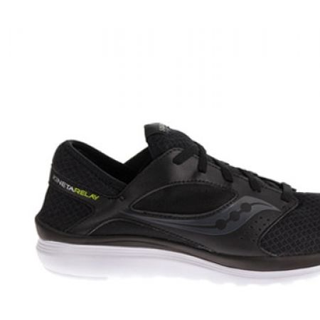 outlet store 8fd7c 78d67 Saucony Kineta Relay Black Running Shoes For Men - Size  40