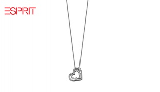Esprit Silver Spellbound Glow Heart Necklace For Women