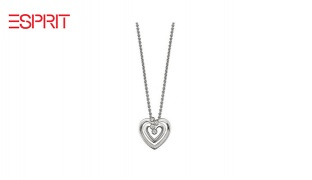 Esprit Silver Spellbound Double Heart Necklace For Women