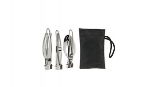Set Of Stainless Steel Foldable Camping Kitchen Utensils 3 Pcs
