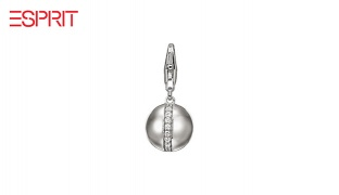 Esprit Silver Sphere Glamline Bracelet Pendant With Zircon For Women