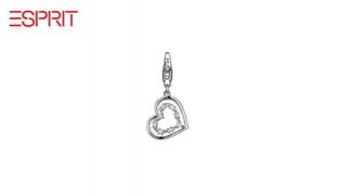 Esprit Silver Charm Spellbound Glow Heart Bracelet Pendant With Zircon For Women