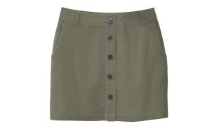 Classy Army Green Linen Skirt For Women Size: 42
