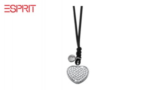Esprit Silver Metal Heart Necklace For Women