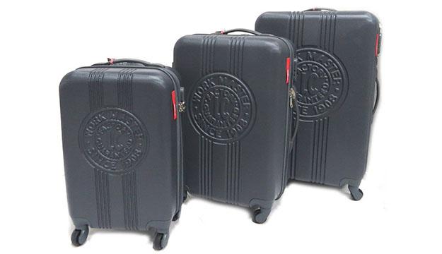 26505a491366 Set Of 3 ABS Trolley Travelling Bags 4 Wheels - Black Red - Makhsoom