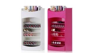 Cosmake Multilayer Lipstick & Nail Polish Organizer - Pink