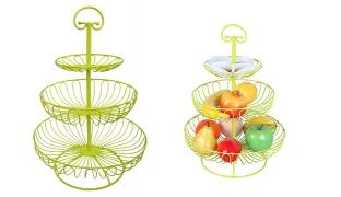 Universal 3-Layer Wire Fruit Basket - White