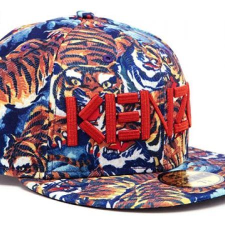 a8bee4805 ... best price kenzo multicolour new era tiger jungle print cap for women  size 7 3 8 ...