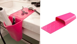 Hot Iron Holster Heat Resistant Pink Silicone Holder