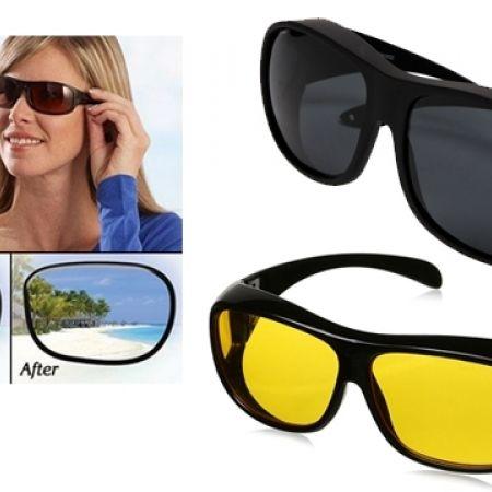 bd4cf2ad568 Set Of 2 Pcs Unisex HD Vision Day   Night Anti-Glare Polarized UV Sunglasses  - Makhsoom