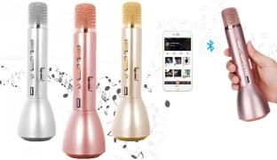 Karaoke Wireless Microphone K088 Handheld KTV With Speaker Bluetooth For Smartphone - Silver