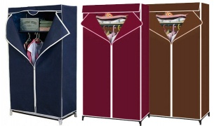 Quality Bedroom Fabric Wardrobe - 60 x 45 x 150 cm - Pink